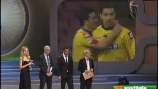 Quagliarella vince l'oscar del calcio aic 2009 per il gol più bello dell'anno