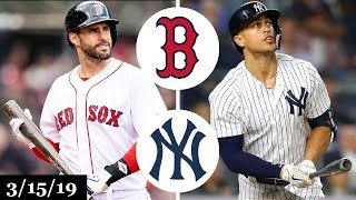 Boston Red Sox vs New York Yankees Highlights | March 15, 2019 | Spring Training