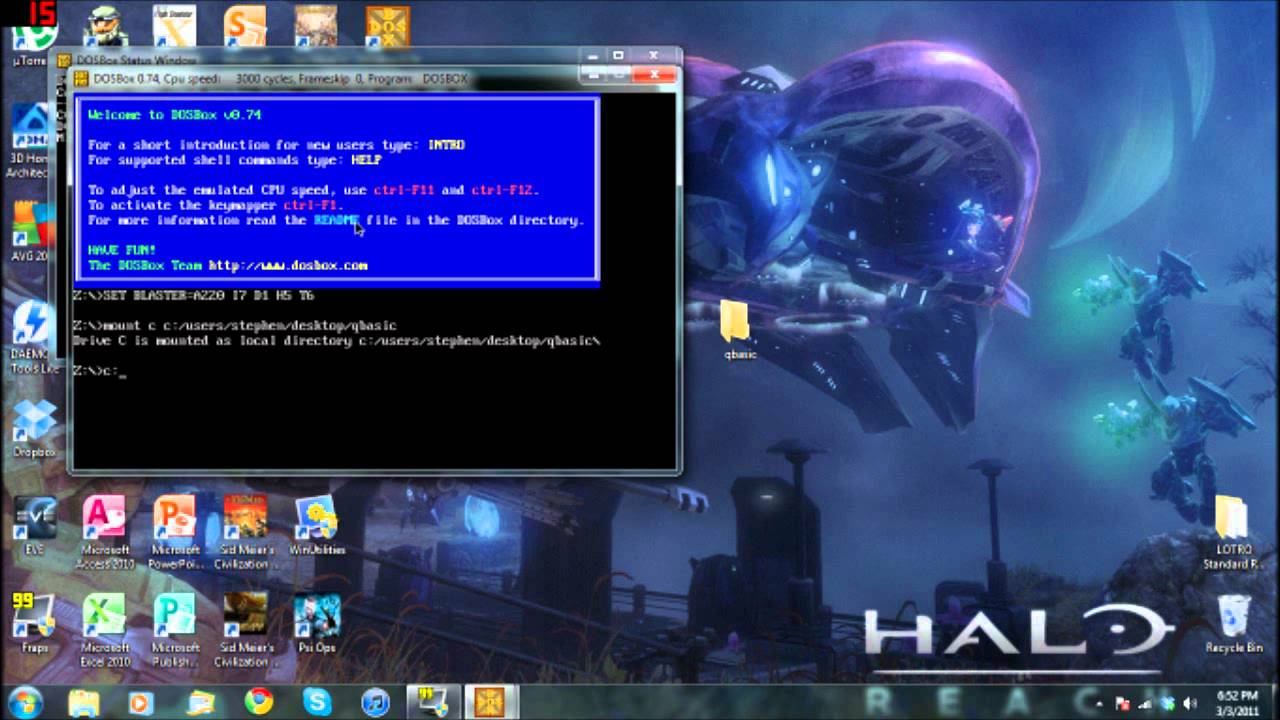 How to Use QBasic on Windows 7 32-Bit ONLY - YouTube