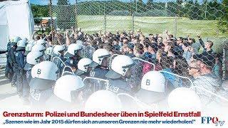 Grenzsturm: Polizei und Bundesheer üben in Spielfeld Ernstfall