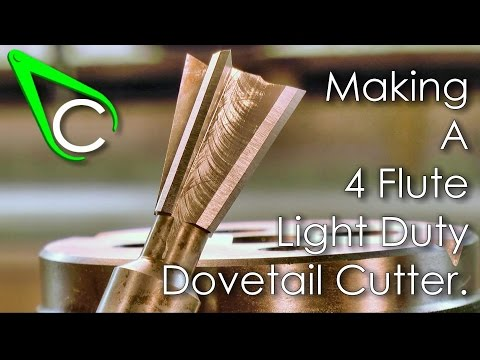 Spare Parts #11 - Making A 4 Flute Light Duty Dovetail Cutter