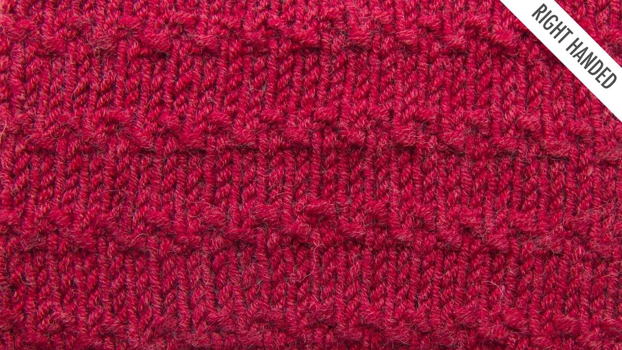 Adding New Stitches Knitting : The Roman Stitch :: Knitting Stitch #525 :: Right Handed - YouTube