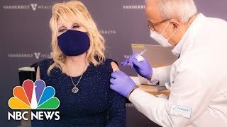 Dolly Parton Urges People To Get Covid Vaccination As She Gets Her First Shot | NBC News NOW