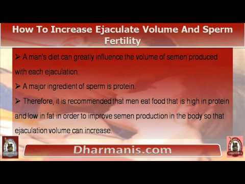 How to increase semen ejaculation