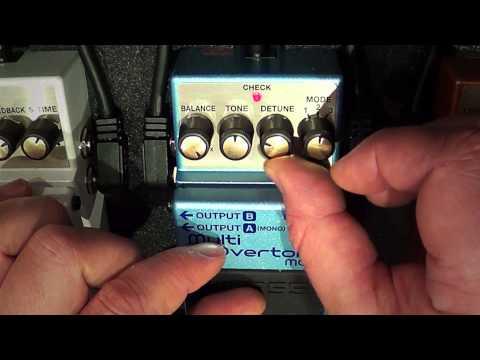 Boss MO-2 Multi Overtone pedal audio/settings demo