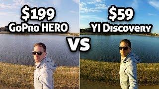 $199 GoPro HERO vs $59 YI Discovery!!