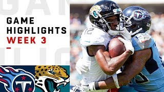 Titans vs. Jaguars Week 3 Highlights | NFL 2018