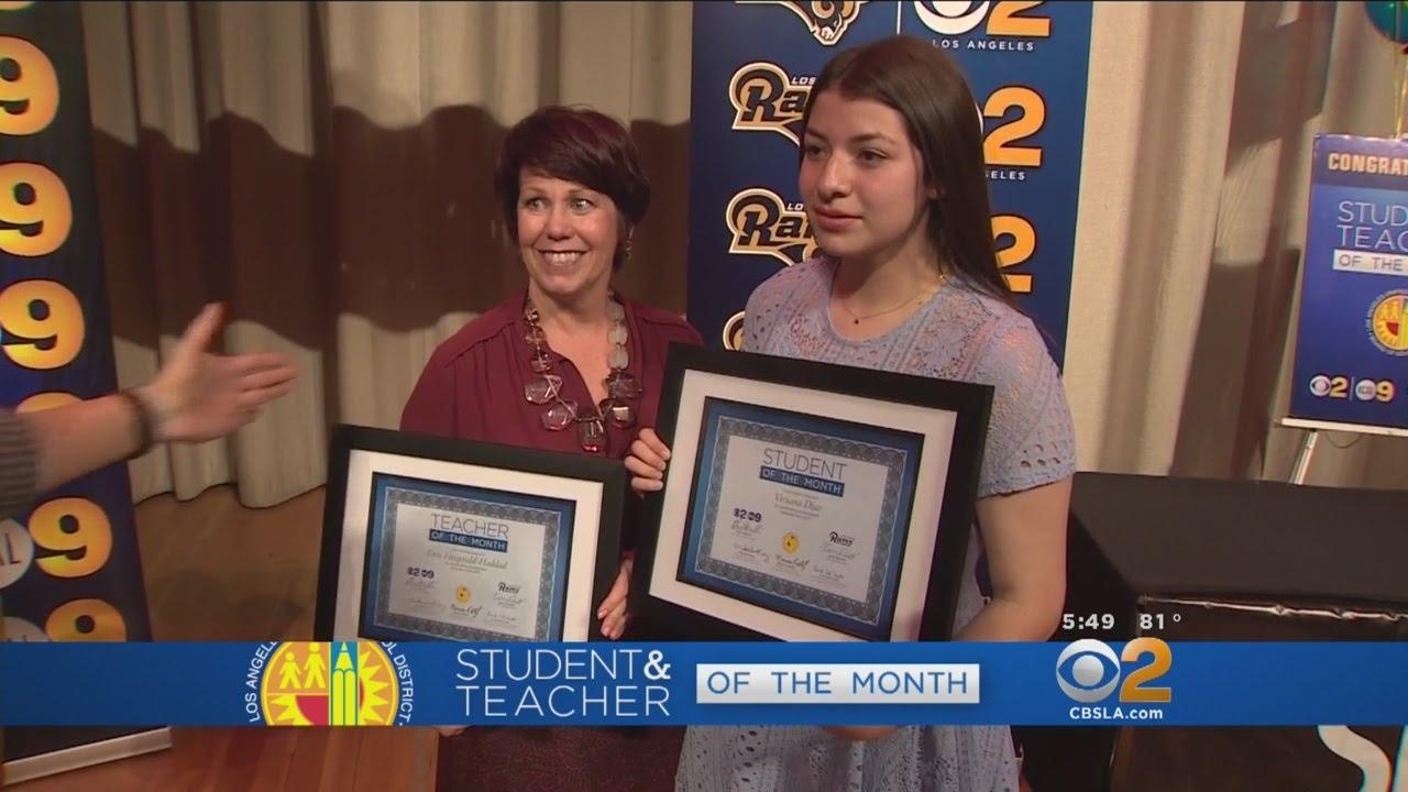 Math Teacher And Eighth Grade Student Honored As Lausd Teacher And