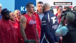 Wladimir Klitschko v Tyson Fury Weigh in, Essen, 27th November 2015