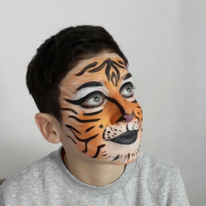 Tigre Face Painting Trucco Bimbi Semplice per Carnevale