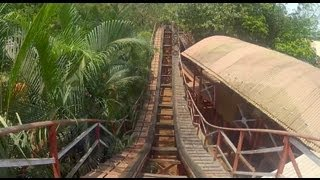 Zipper Dipper POV Wooden Roller Coaster EsselWorld Mumbai India