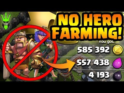 Gaining Loot w/ NO HEROES & NO DE Required - TH9 Dark Elixir Farming - Clash of Clans - Goblin Knife