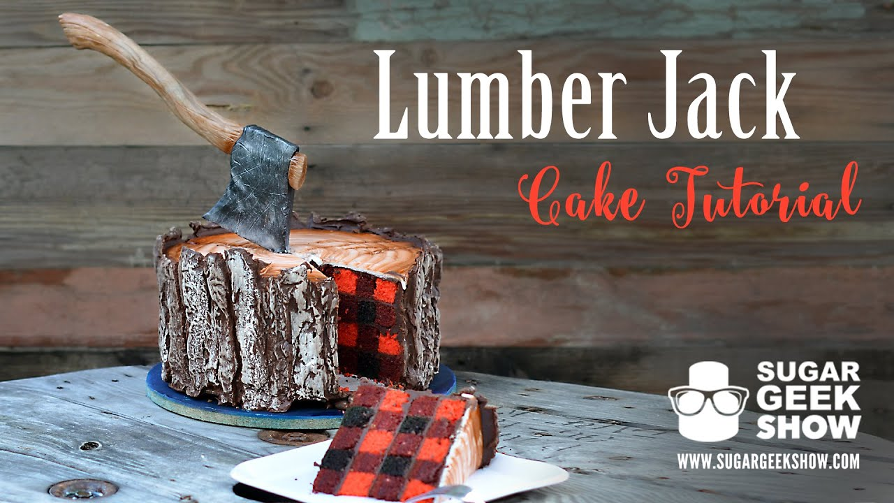 Lumberjack Plaid Cake Tutorial Promo Sugar Geek Show