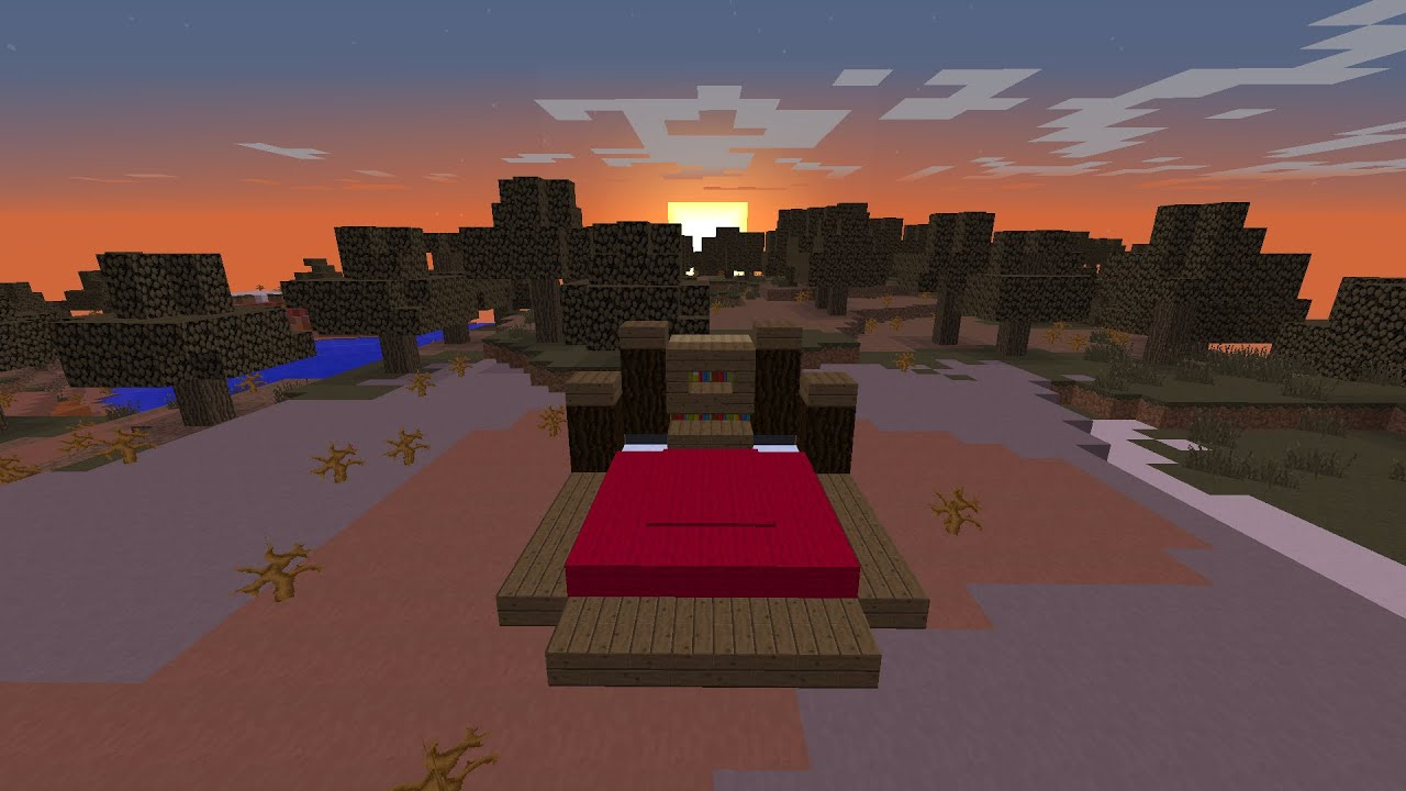fancy realistic bed in minecraft youtube