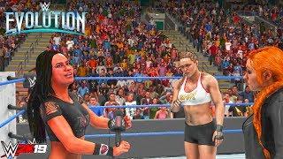 WWE 2K19 Custom Story: AJ Lee Returns at WWE Evolution ft. Battle Royal, Ronda Rousey & Becky Lynch
