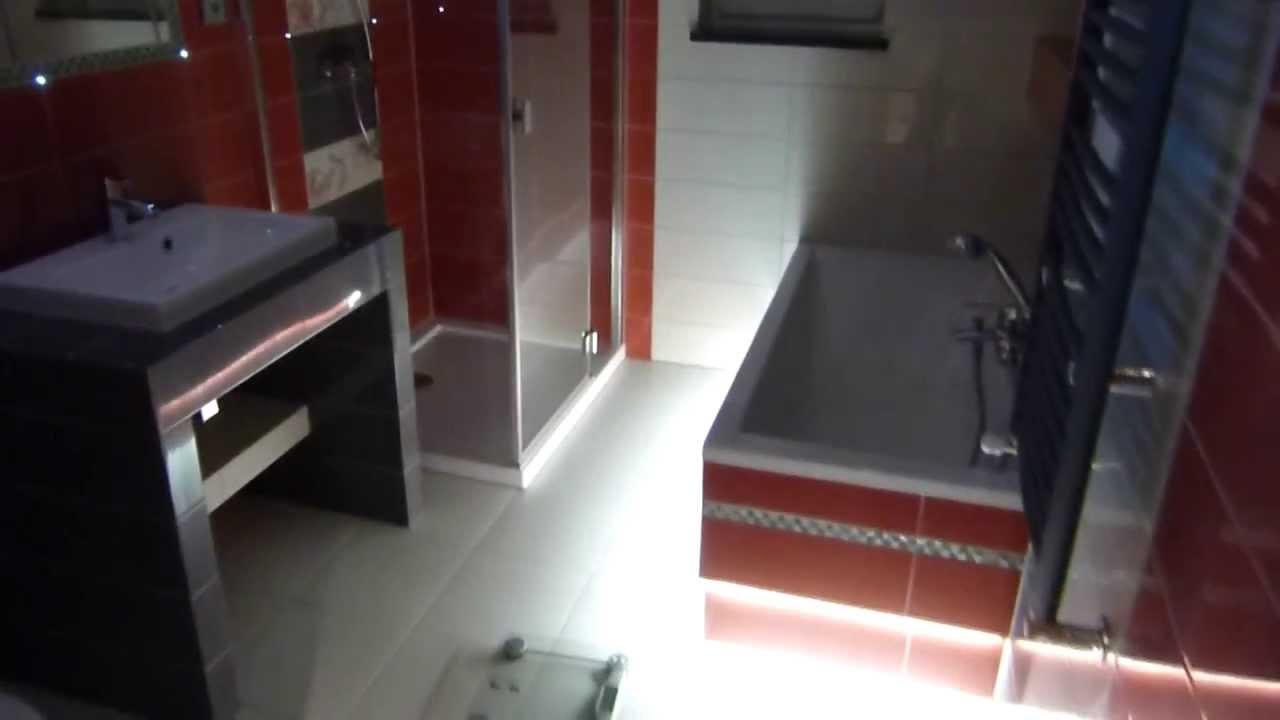 Remont łazienki Oświetlenie Led W Fugach
