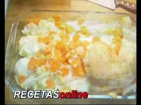 Cuartos de pollo al horno - Receta de cocina RECETASonline - YouTube