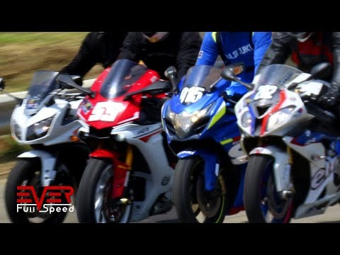 Drag Races | Fazer Vs R1 Vs GSXR 1000 Vs S1000RR Vs 1199 Panigale Vs Triumph Daytona 675R Vs S1000R
