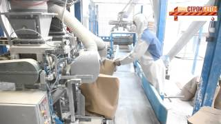 Завод по производству сухих строительных смесей СанниМикс.(Этот завод установлен в Санкт-Петербурге, производительность до 30 тонн фасованных смесей в час. Производит..., 2015-10-08T07:49:56.000Z)
