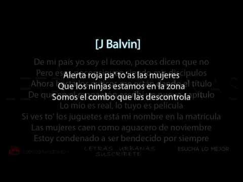 LETRA LYRIC Alerta Roja  Daddy Yankee,Nicky Jam,J Balvin,Arcangel,Cosculluela Y Varios Artistas