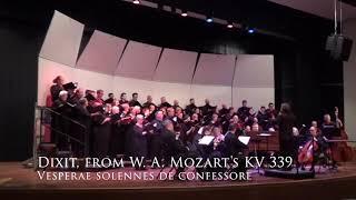 Dixit, from W. A. Mozart's Vesperae Solennes de Confessore KV 339