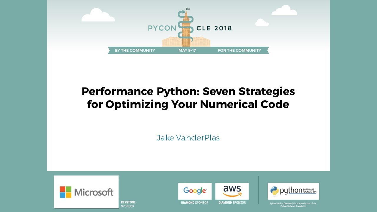 Image from Performance Python: Seven Strategies for Optimizing Your Numerical Code