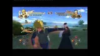 Naruto Storm 3 Minato (Naruto & Anbu Kakashi) vs. Tobi, Sasuke, Obito, Itachi, Madara & Danzo