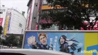 渋谷を走行する、ジャニーズWEST:藤井流星の初主演ドラマ「アゲイン‼  ...
