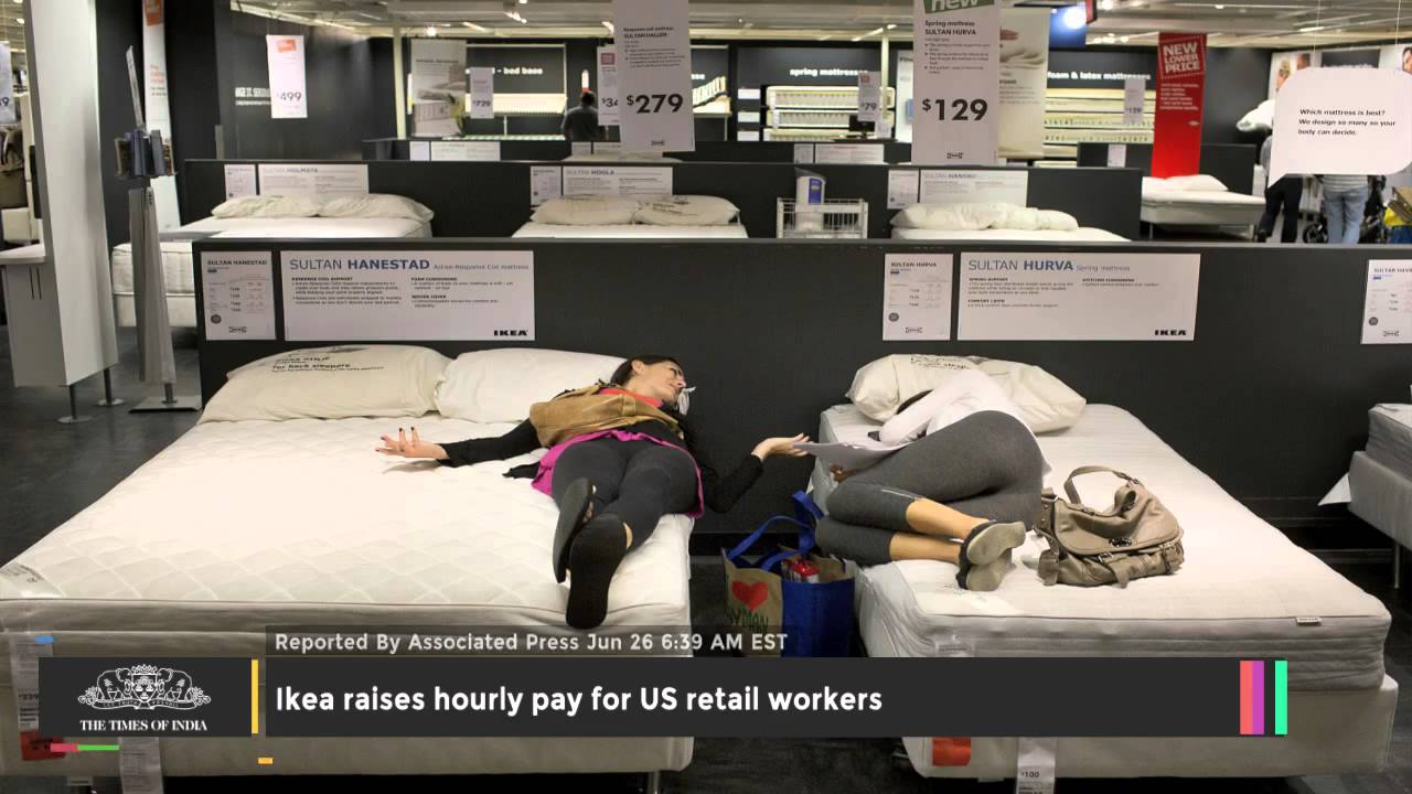 Ikea Raises Hourly Pay For US Retail Workers - TOI - YouTube on