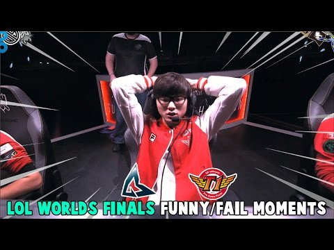 LOL WORLDS FINALS FUNNY/FAIL MOMENTS - 2016 League of Legends