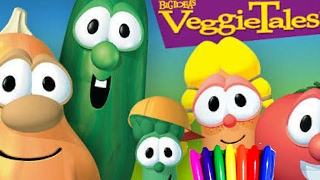 "Kids Cartoons VeggieTales""The little House that Stood"" Coloring Book Pages fun Art"