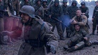 """Сержант Дон Кольер заставляет новобранца убить немца  - """"Ярость"""" отрывок из фильма"""