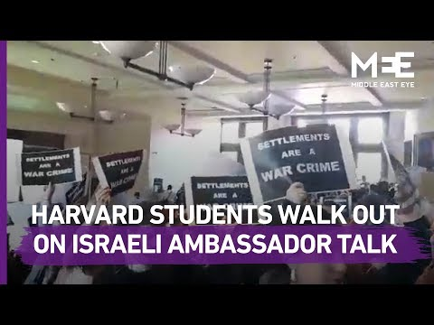 Harvard Law Students Walk Out From Talk Given By Israeli Ambassador