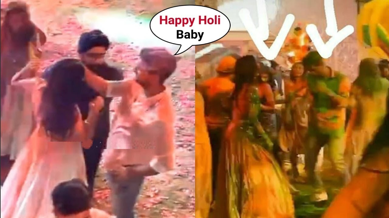 Katrina Kaif Playing Holi With Boyfriend Vicky Kaushal At ...
