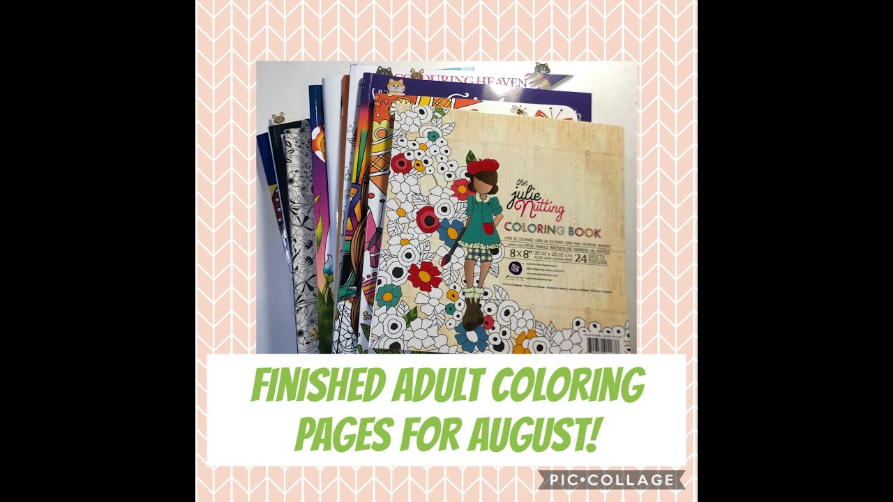 Download Finished Adult Coloring Pages for August!