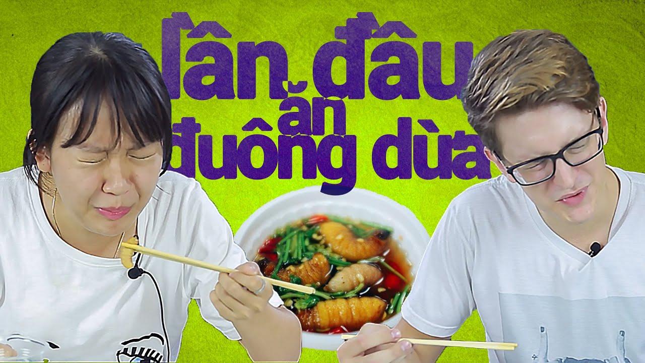 Lần đầu ăn Đuông dừa.. | Try coconut larvae for the first time | Trong  Trắng 18