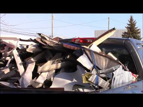 Scrapping Aluminum Siding At The Recycling Center!! Alpena Michigan 2018 Scrap Prices
