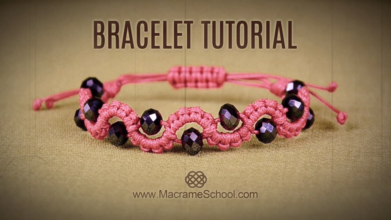 DIY Easy Wave Bracelet With Beads