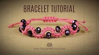 DIY Easy Wave Bracelet with Beads | Macrame School
