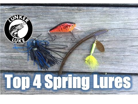 Top 4 Spring Pond Lures- Bass Fishing- Lunker Luke HD