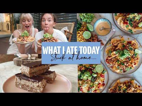 WHAT I ATE TODAY | Vegan Nachos & Peanut Butter chocolate SLICE!!!