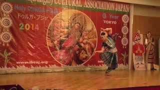 """Odissi Dance """"Mangalacharan Ganga Taranga"""" by Eiko Shinohara"""