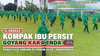 KOMPAK Senam Kaka Enda Persit KCK Cabang XL Kodim 0116 Nagan Raya