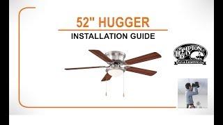 Hugger Ceiling Fan Installation Guide