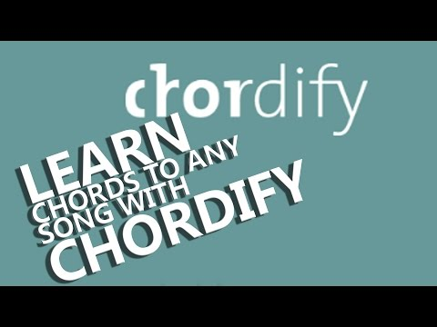 Chordify works out any chords for you from any song on You Tube