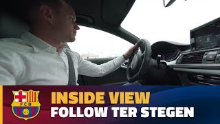 [BEHIND THE SCENES] Inside view with Ter Stegen on the day he signs his contract renewal with Barça