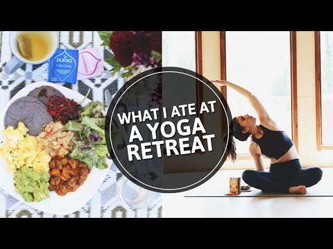 10. What I Eat In a Day - On a YOGA RETREAT | Vegetarian