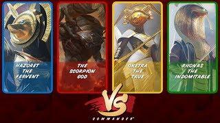 commander vs s8e4 hazoret vs the scorpion god vs oketra vs rhonas