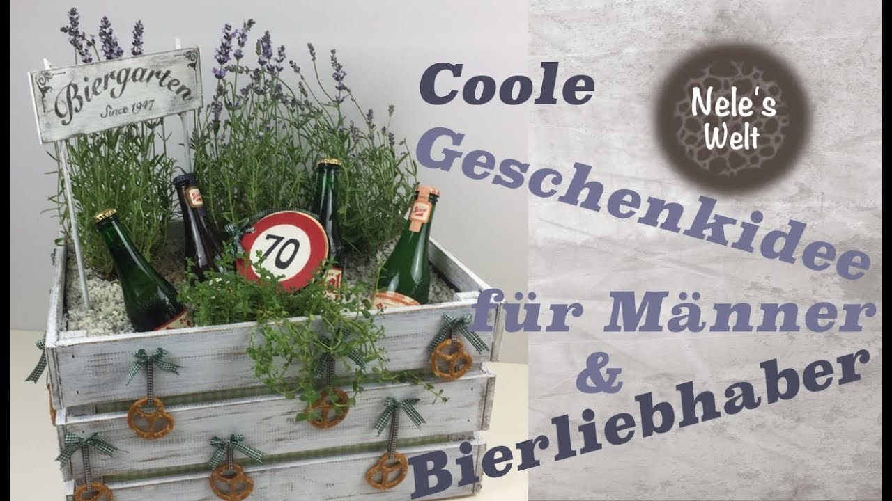 geschenk f r m nner selber machen biergarten diy. Black Bedroom Furniture Sets. Home Design Ideas