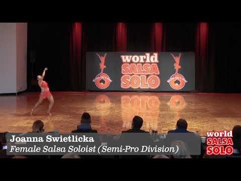 Joanna Swietlicka  Female Salsa Soloist Semi Pro, WSS 2017